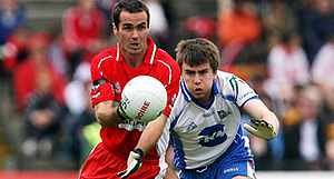 Seán Marty Lockhart - Lockhart (left) in action against Monaghan in the 2007 Ulster Championship