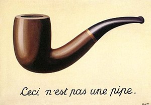 René Magrittes The Treachery of Images - This is not a pipe