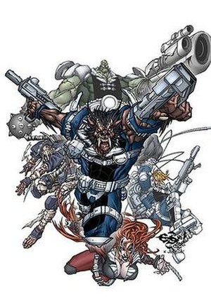 Nick Fury's Howling Commandos - Promotional art for premiere-issue cover by Eduardo Francisco