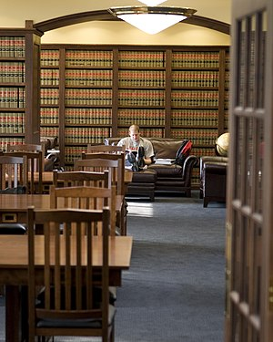 ONU Law student studying in Taggart Law Library