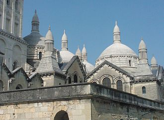 Périgueux Cathedral - Domes and Turrets added on the Saint Front Cathedral by Paul Abadie in the mid-19th Century.