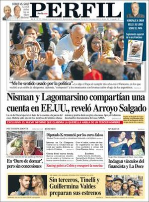 Perfil - Image: Perfil front page