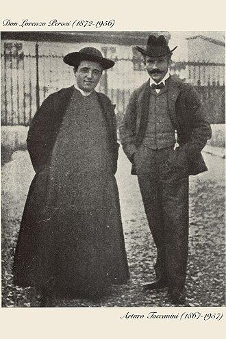 Lorenzo Perosi - Perosi and Toscanini, in Milan for the world-première of Mosè (1901).