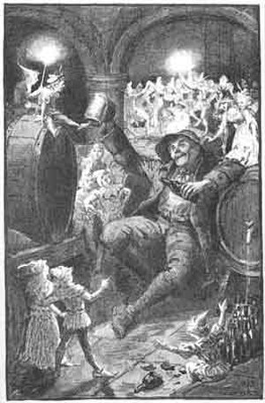 """Picrous Day - An illustration of the Picrous day story """"Piskies in the cellar"""""""