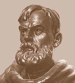 Semyon Dezhnev - A sculptural portrait of Dezhnyov by B. N. Brodsky
