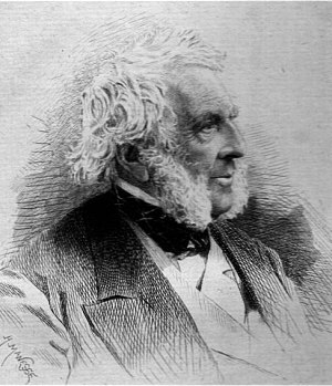 Sir George Burns, 1st Baronet - An etching of Sir George Burns