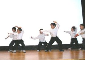 History of Chinese Americans in St. Louis - St. Louis Modern Chinese School students perform Chinese Kung Fu at the University of Missouri–St. Louis in December 2005.