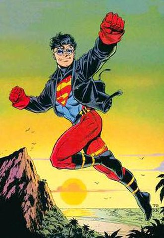Superboy (Kon-El) - Kon-El as he appeared in 1994. Art by Tom Grummett.