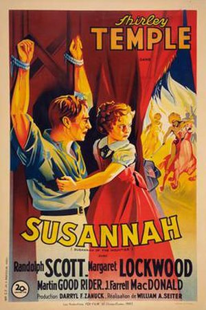Susannah of the Mounties (film) - Image: Susannah of the Mounties Poster
