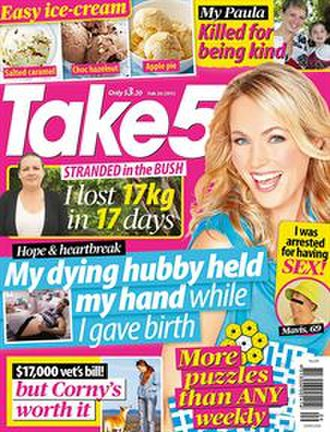 Take 5 (magazine) - Image: Take 5 magazine cover