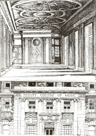Trinity Laban Conservatoire of Music and Dance - 1922 Woodcut of Mandeville Place