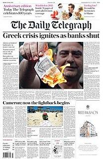 <i>The Daily Telegraph</i> British daily broadsheet newspaper