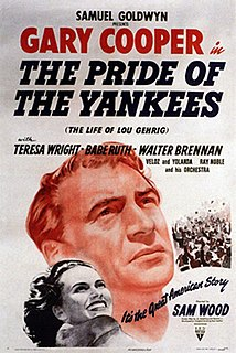 <i>The Pride of the Yankees</i> 1942 film by Sam Wood