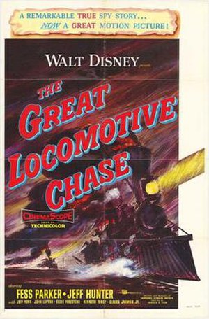 The Great Locomotive Chase - Image: The poster of the movie The Great Locomotive Chase
