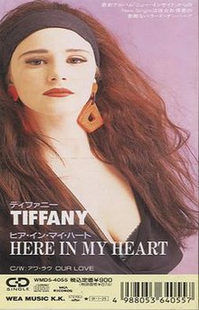 Tiffany Here in My Heart Single 1990 Cover.jpg