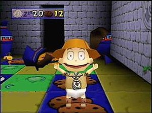 Rugrats: Scavenger Hunt - Screenshot of gameplay during the Angelica's Temple of Gloom board.