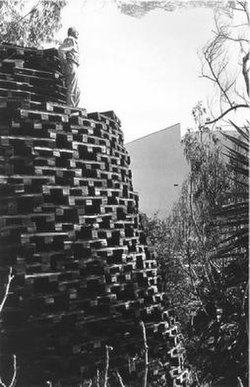 Tower of Wooden Pallets circa 1953.jpg