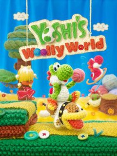 <i>Yoshis Woolly World</i> 2015 platform video game for the Wii U