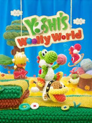 Yoshi's Woolly World - Image: UK box art of Yoshi's Woolly World