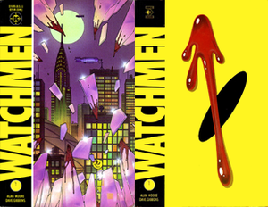 Modern Age of Comic Books - Watchmen (1986), one of the comics considered to signify the beginning of the Modern Age. Cover art by Dave Gibbons.