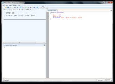 Windows PowerShell ISE screenshot