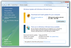 Windows Update with Windows Ultimate Extras
