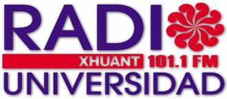 XHUANT-FM - Image: XHUANT Radio Universidad 101.1 logo