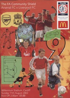 2002 FA Community Shield - The match programme cover