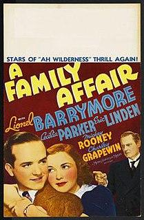 <i>A Family Affair</i> (1937 film) 1937 film by George B. Seitz