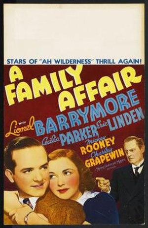 A Family Affair (1937 film) - Film Poster