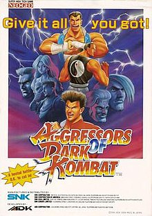 Aggressors of Dark Kombat arcade flyer.jpg