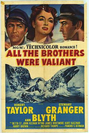 All the Brothers Were Valiant - Theatrical release poster