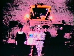 Solarised colour in the music video