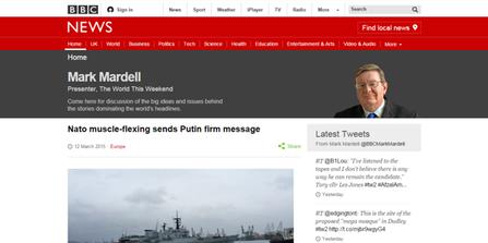BBC News Online blog style