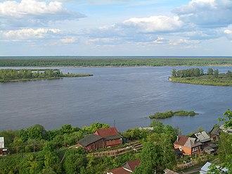 Kstovsky District - A view of the Volga River from the selo of Bezvodnoye in Kstovsky District