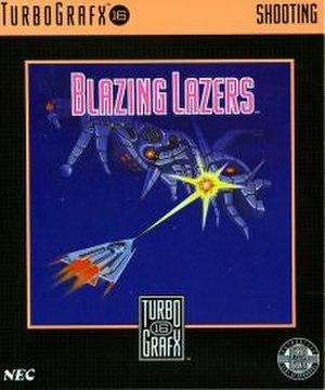 Blazing Lazers - North American box art of Blazing Lazers