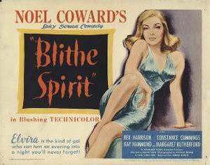 Blithe Spirit (film) - UK film quad poster
