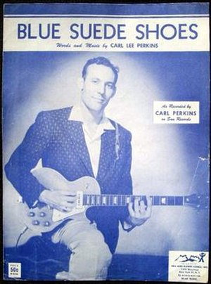 Blue Suede Shoes - 1956 sheet music cover, Hill and Range, New York