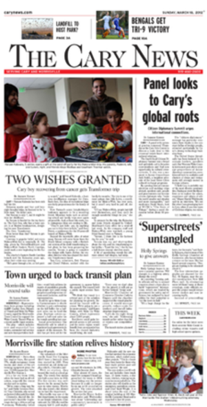 The Cary News - Image: Cary News frontpage