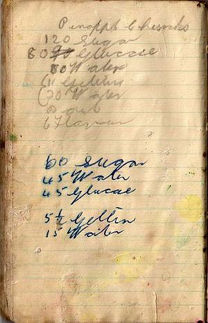 Pineapple Lumps - Charles Diver's original recipe.