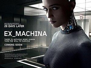 Ex Machina (film) - British theatrical release poster