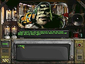 Fallout 2 - An example of dialogue between characters in Fallout 2.