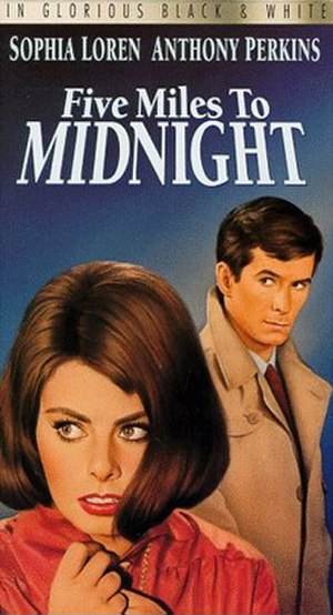 Five Miles to Midnight - The VHS cover