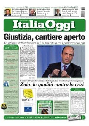 Italia Oggi - Image: Frontpage italia oggi