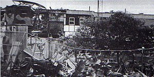 Glenanne barracks bombing - Part of the UDR barracks after the attack