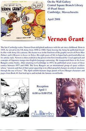 Vernon Grant - Poster for exhibition of Vernon Grant's art.