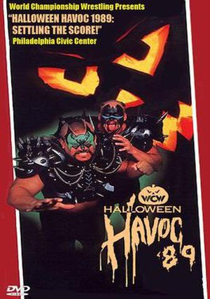 Halloween Havoc (1989) - DVD cover featuring Animal and Hawk