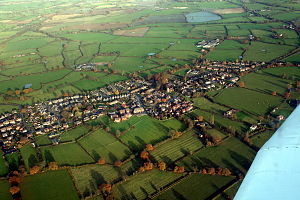 Haughton, Staffordshire - Haughton from the air