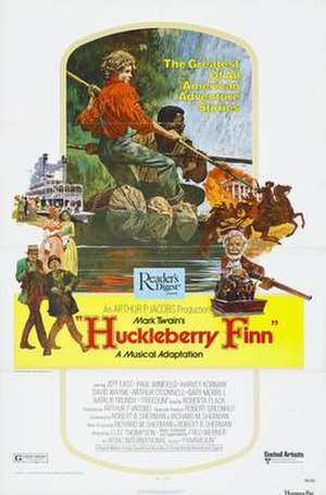 Huckleberry Finn (1974 film) - Theatrical release poster