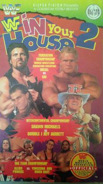 In Your House 2 - VHS cover featuring various WWF wrestlers